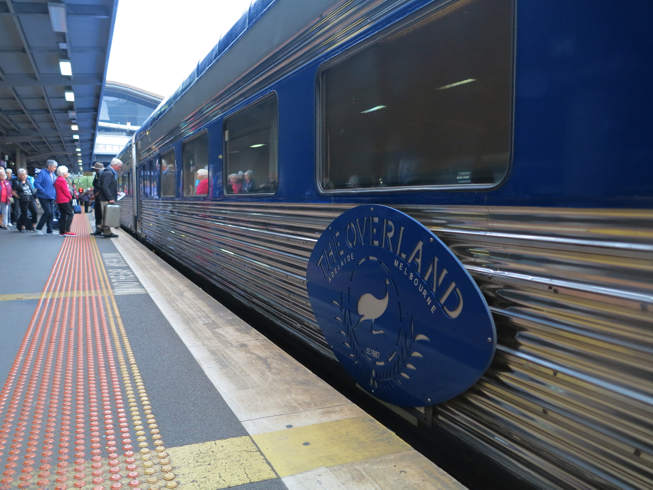 The Overland train from Melbourne to Adelaide